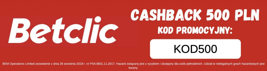 Betclic cashback 500